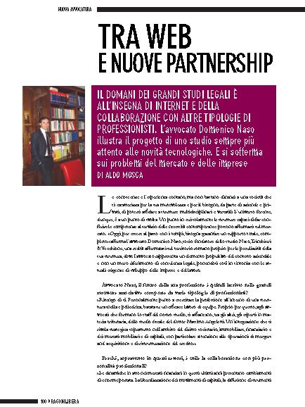 """""""Tra web e nuove partnership"""" – articolo di Aldo Mosca (su """"RagionLibera"""")"""